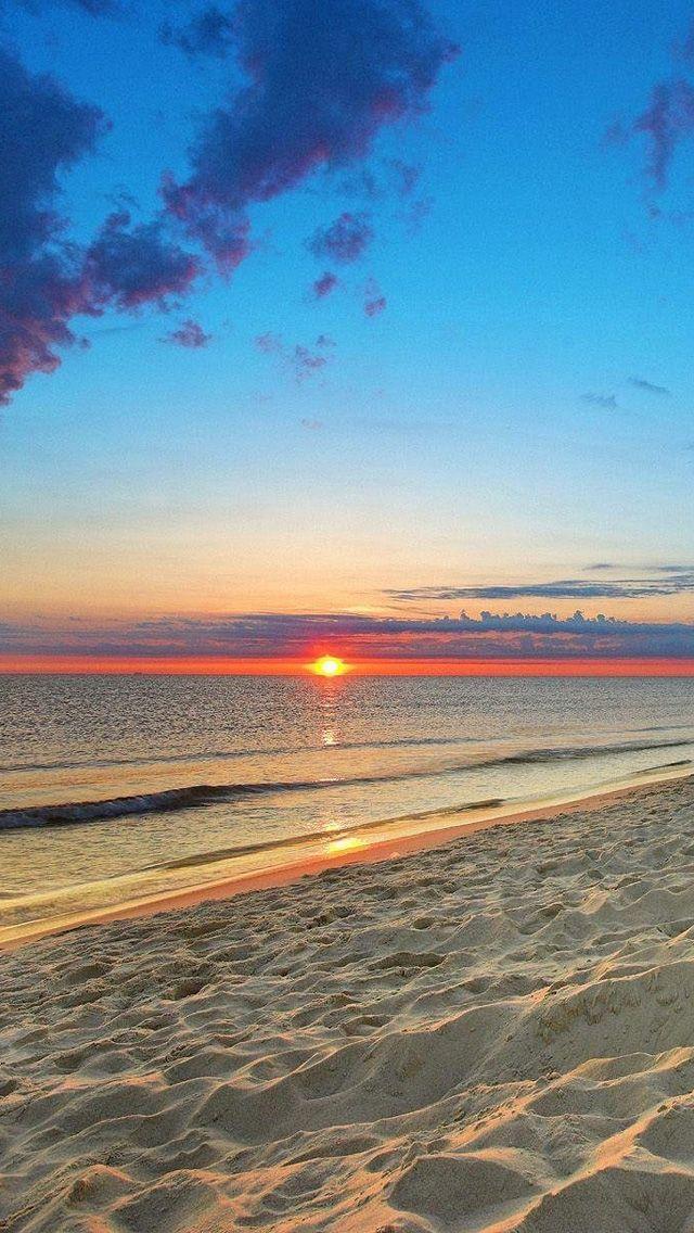 Beach Sunset Iphone Background - HD Wallpaper
