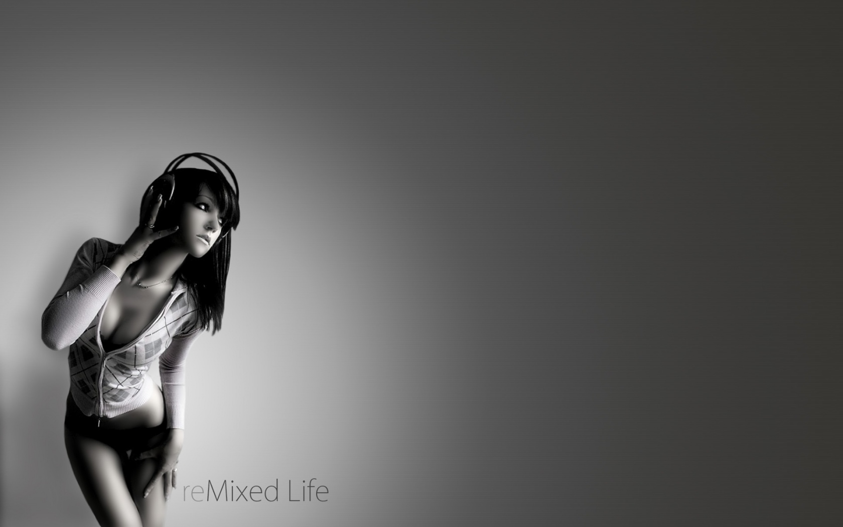 Remixed Life Hd And Wide Wallpapers - Hot Girl Listening To Music - HD Wallpaper