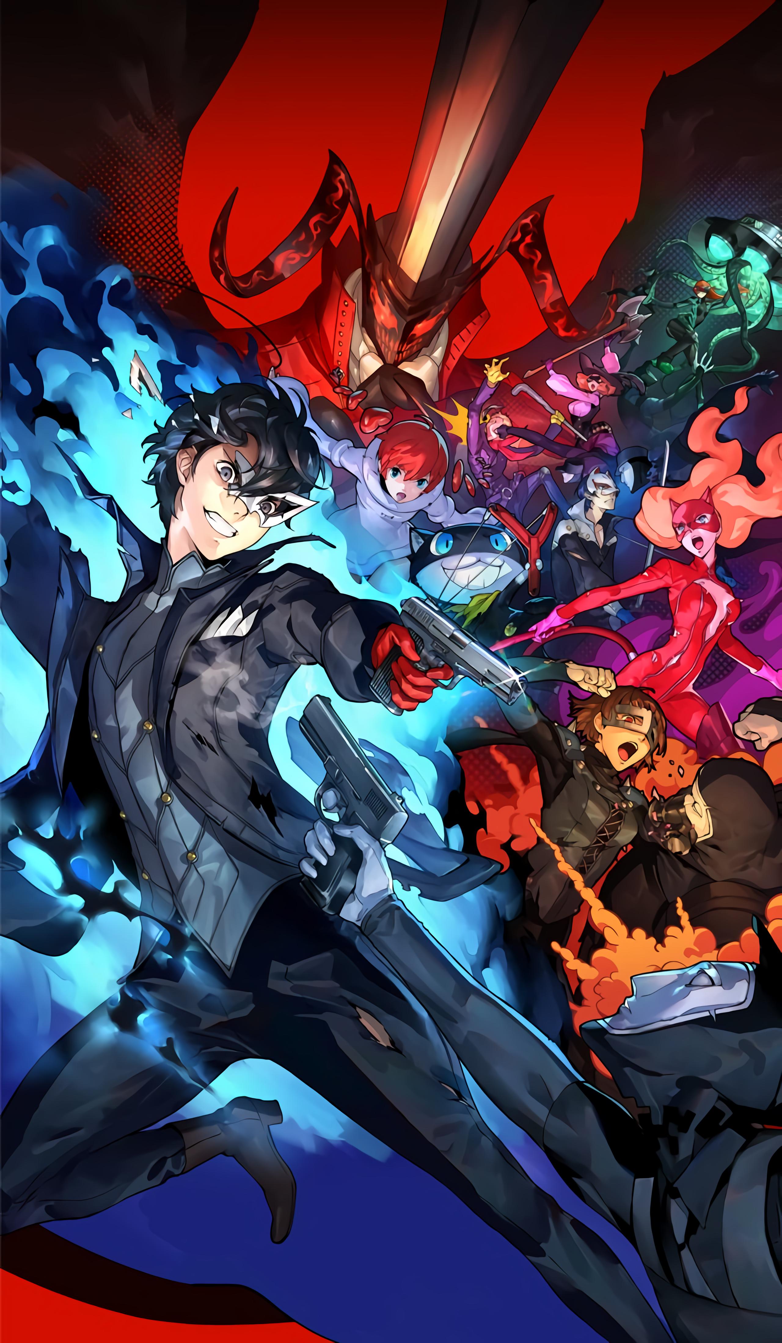 Persona 5 Scramble Artwork 2560x4396 Wallpaper Teahub Io