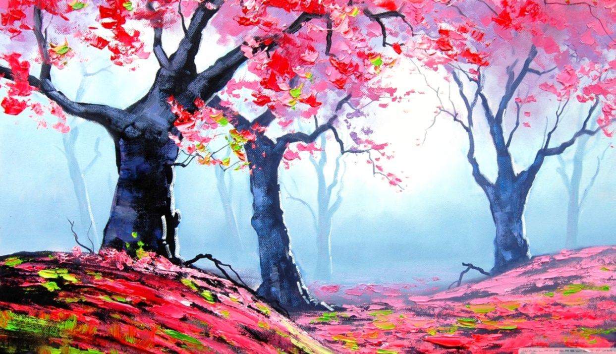 Spring Painting 4k Hd Desktop Wallpaper For 4k Ultra Beautiful Paintings For Exhibition 1243x714 Wallpaper Teahub Io