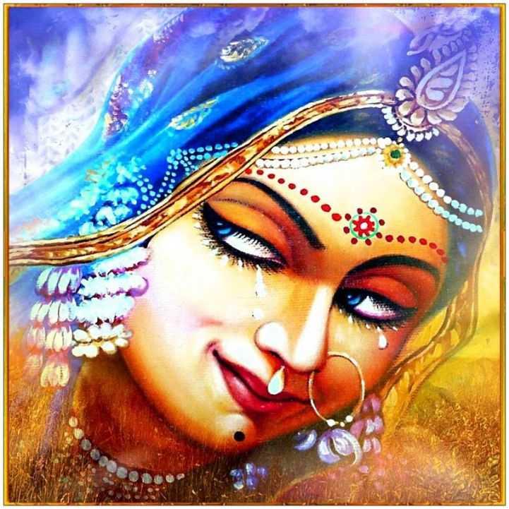 Painting Whatsapp Dp Wallpaper Shri Love Radha Beautiful - HD Wallpaper