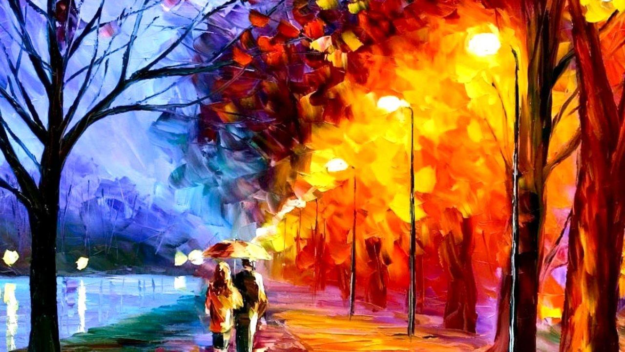 Autumn, Oil, Painting, Desktop, Wallpaper, Amazing, - Art That Mean Something - HD Wallpaper