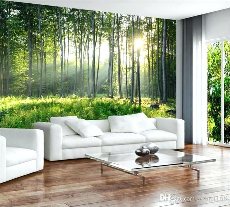 Custom Photo Wallpaper Green Forest Nature Scenery - Living Room Wall Paper Design - HD Wallpaper