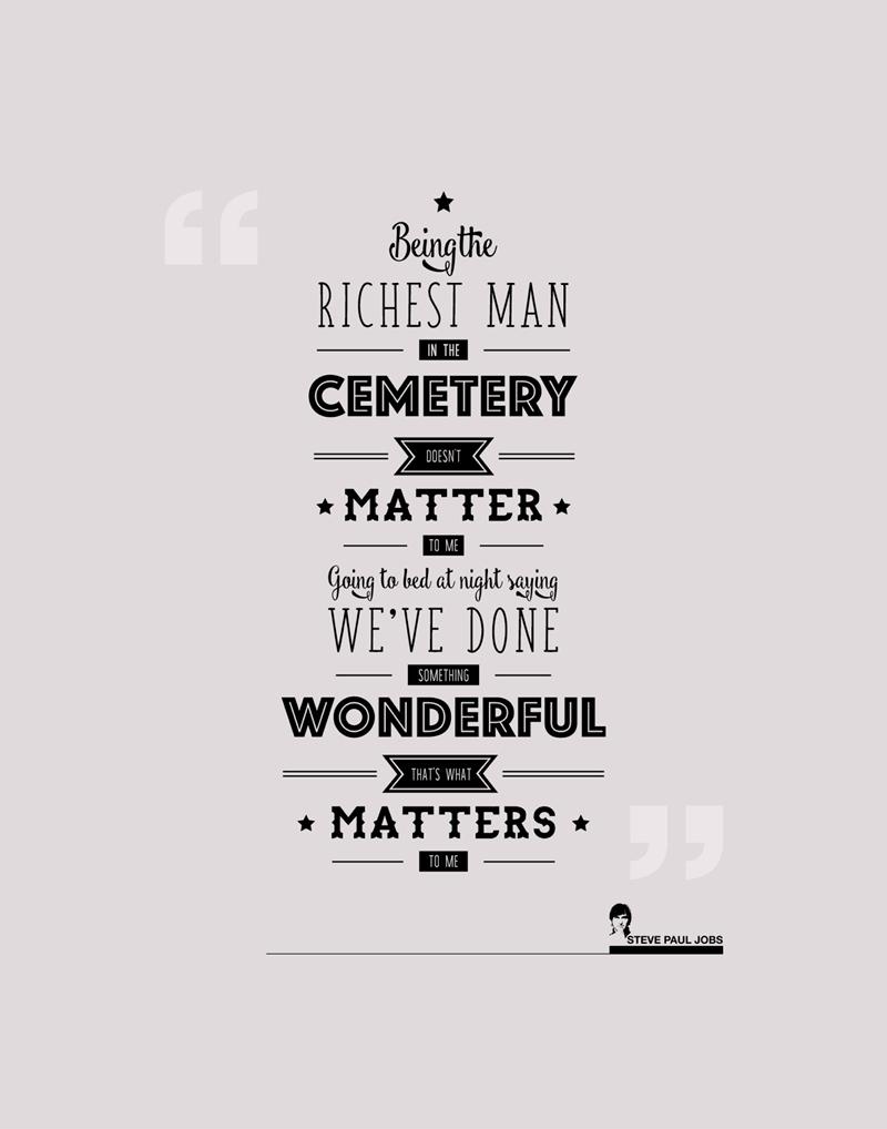 Steve Jobs Quotes - Poster - HD Wallpaper
