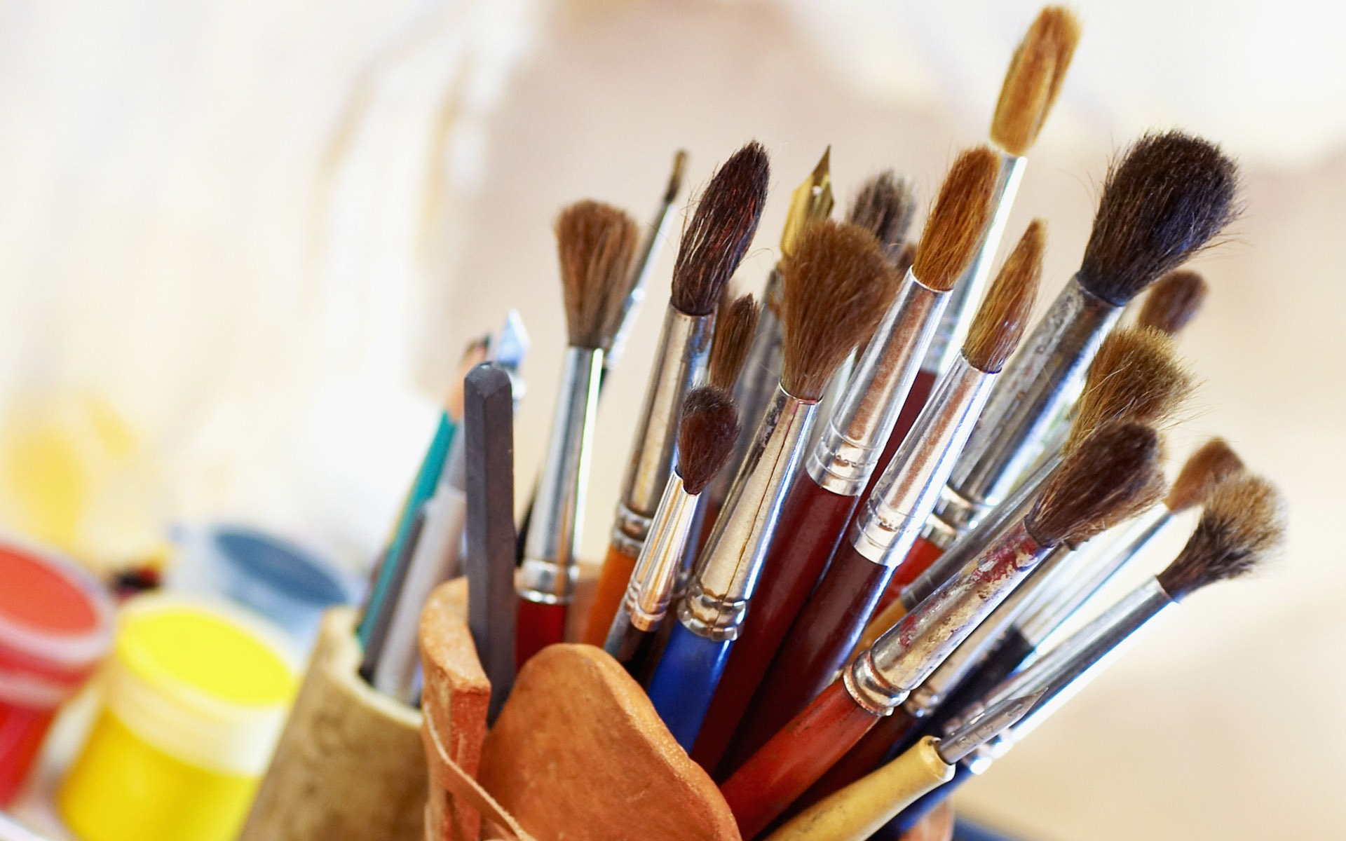 Colorful Wallpaper Paint Brushes - Paint Brushes - HD Wallpaper