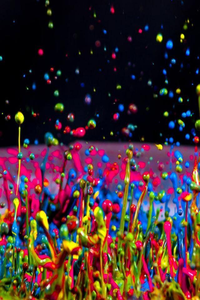 Glow In The Dark Paint Splatter - HD Wallpaper