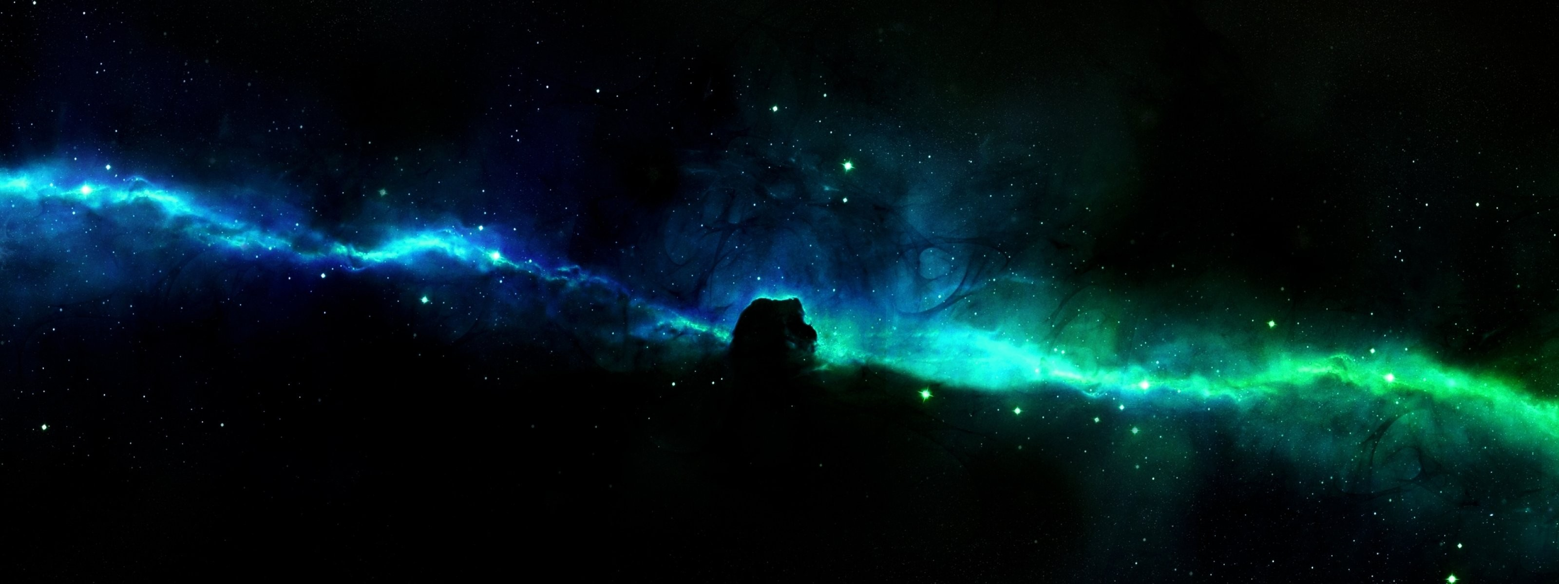 Space Dual Multi Screen Monitor Background Nature Hd - Dual Monitor Background Space - HD Wallpaper