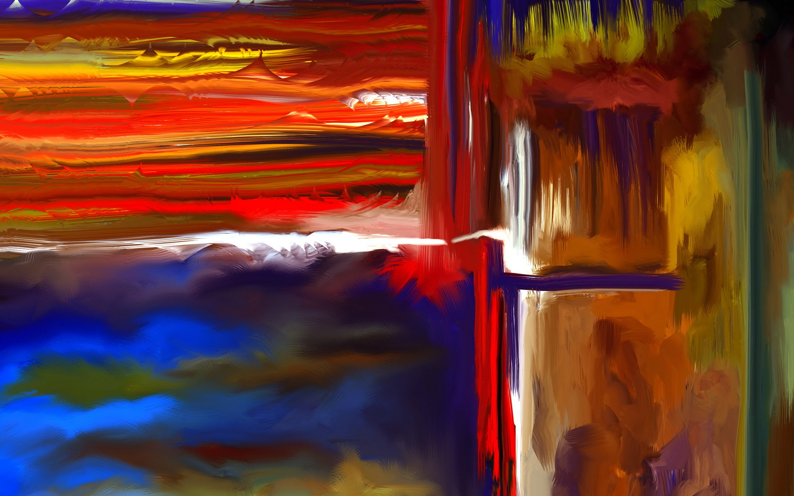 Abstract Painting Background - HD Wallpaper
