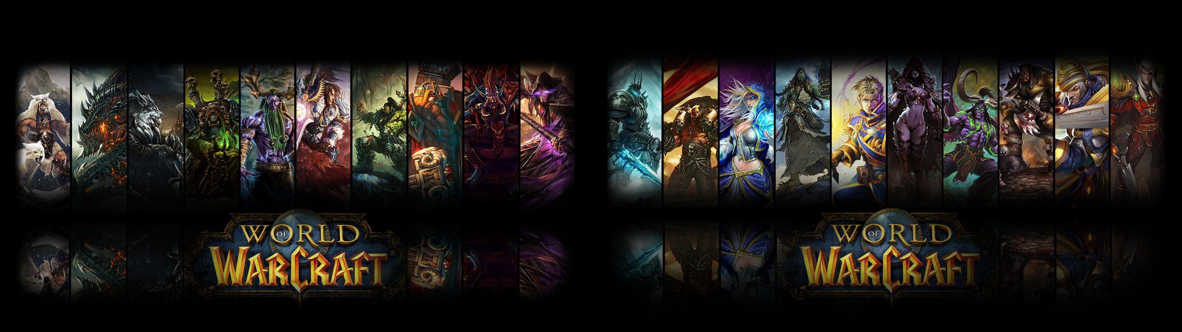 2 Fond D écran Diffã©rent En Dual Screen Best Of World - World Of Warcraft Dual Screen Background - HD Wallpaper