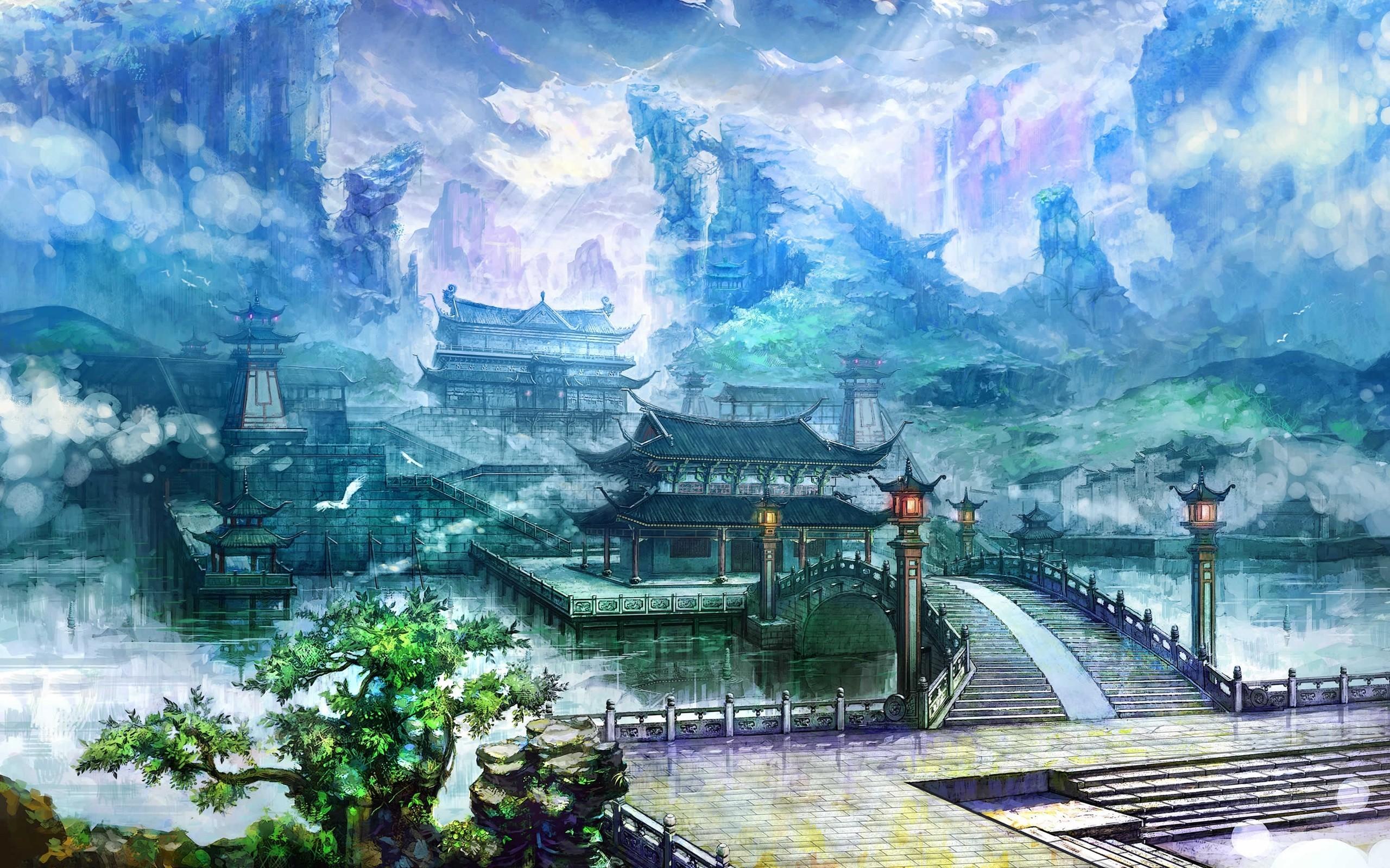 2560x1600 Chinese Landscape Wallpaper China Art Landscape Chinese Landscape Watercolor Painting 2560x1600 Wallpaper Teahub Io