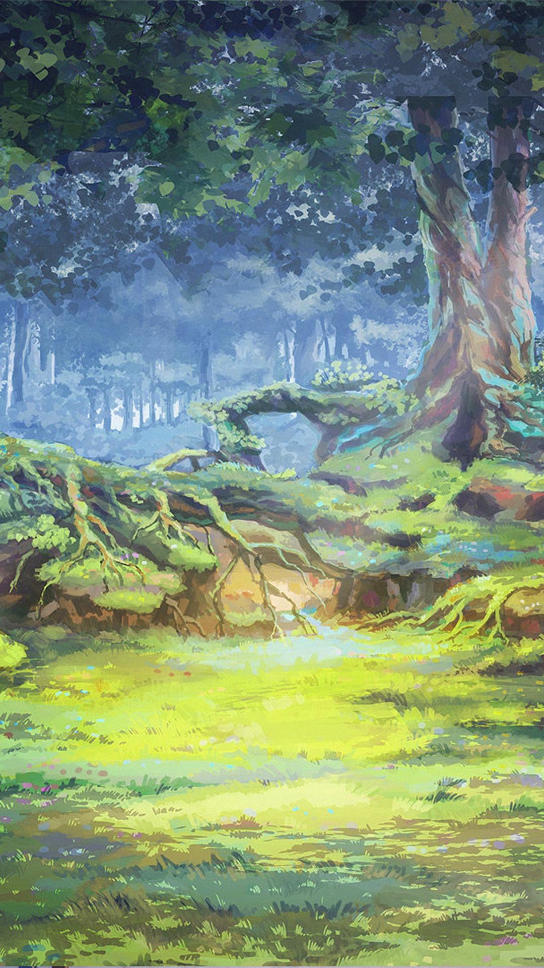 Nature Painting Wallpaper Iphone - HD Wallpaper