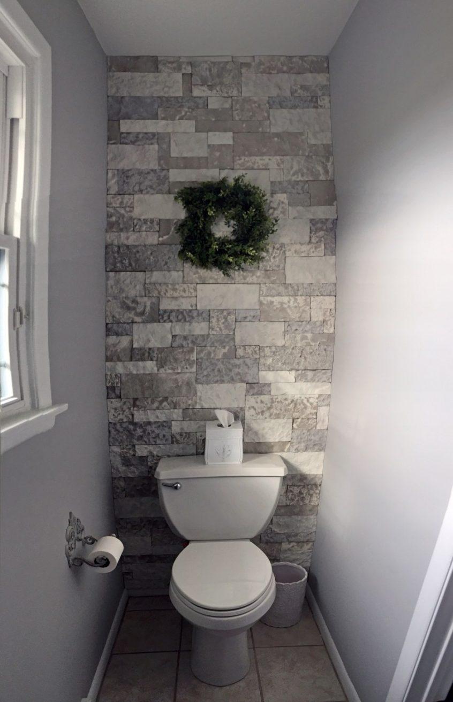Airstone Bathroom Accent Wall The Kelly Homestead Dark - Home Decor Bathroom Tiles - HD Wallpaper
