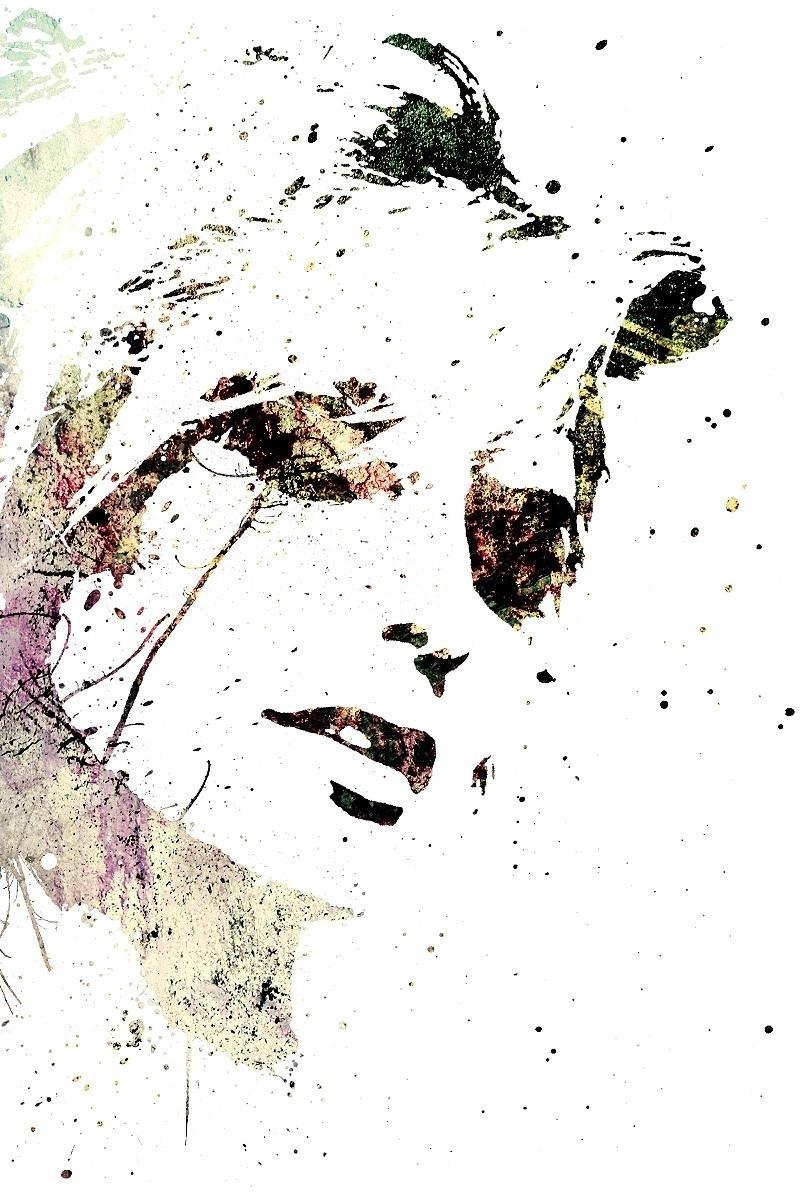 Wallpaper Portrait, Girl, Spray, Paint - Spray Paint Art Wallpaper Iphone - HD Wallpaper
