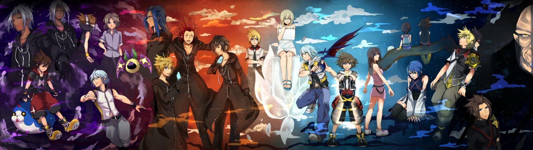 Dual Monitor Wallpaper Kingdom Hearts 1774x500 Wallpaper Teahub Io