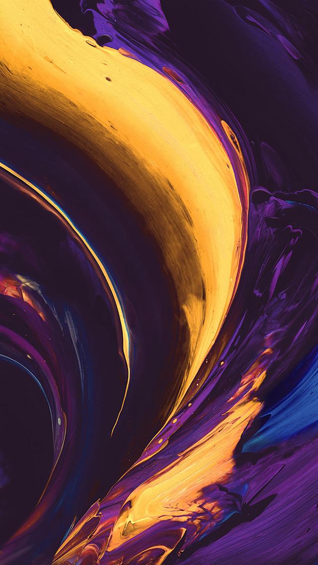 Yellow Purple And Grey Abstract Art - HD Wallpaper