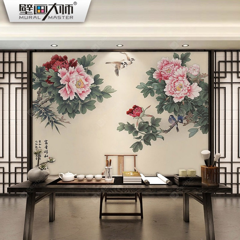Chinese Peony Classical Painting - HD Wallpaper