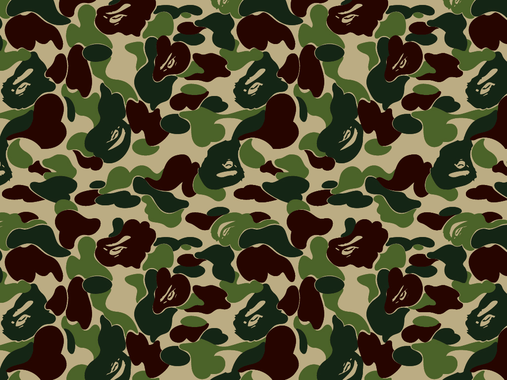 Bathing Ape Wallpaper - Bape Camo Logo - HD Wallpaper