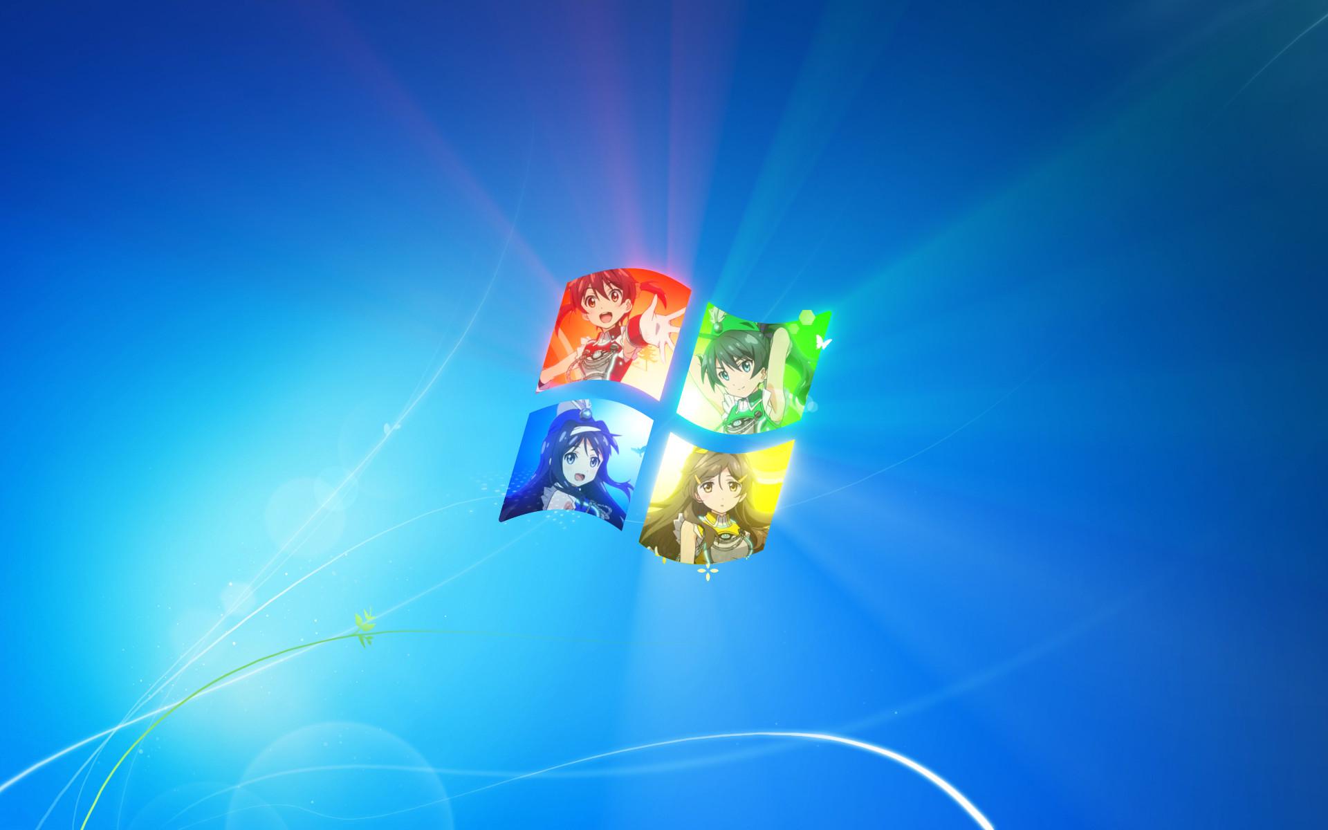 1920x1200, Vividred Operation Windows 7 Wallpaper By - Desktop Windows 7 Anime - HD Wallpaper
