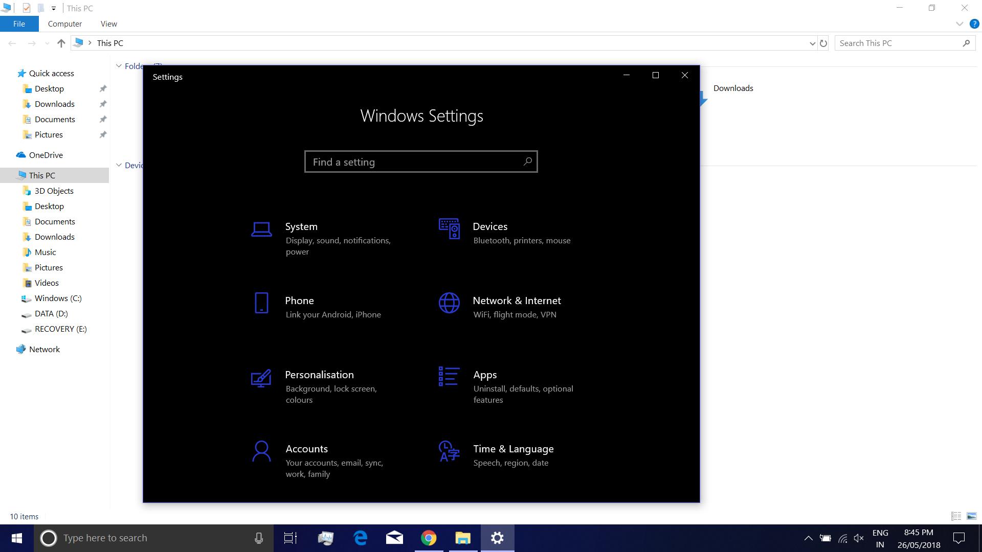 Dark Theme Of File Explorer Windows 10 - HD Wallpaper