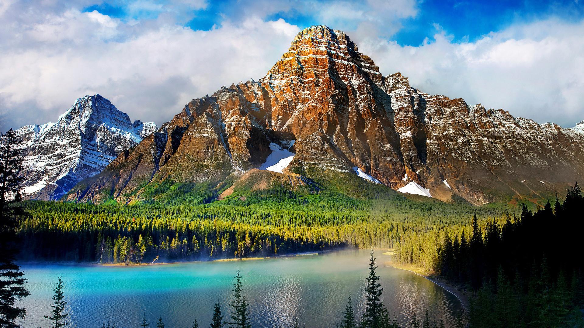 Beautiful Scenery, Mountains, Lake, Nature, Windows - Windows 10 Background Nature - HD Wallpaper