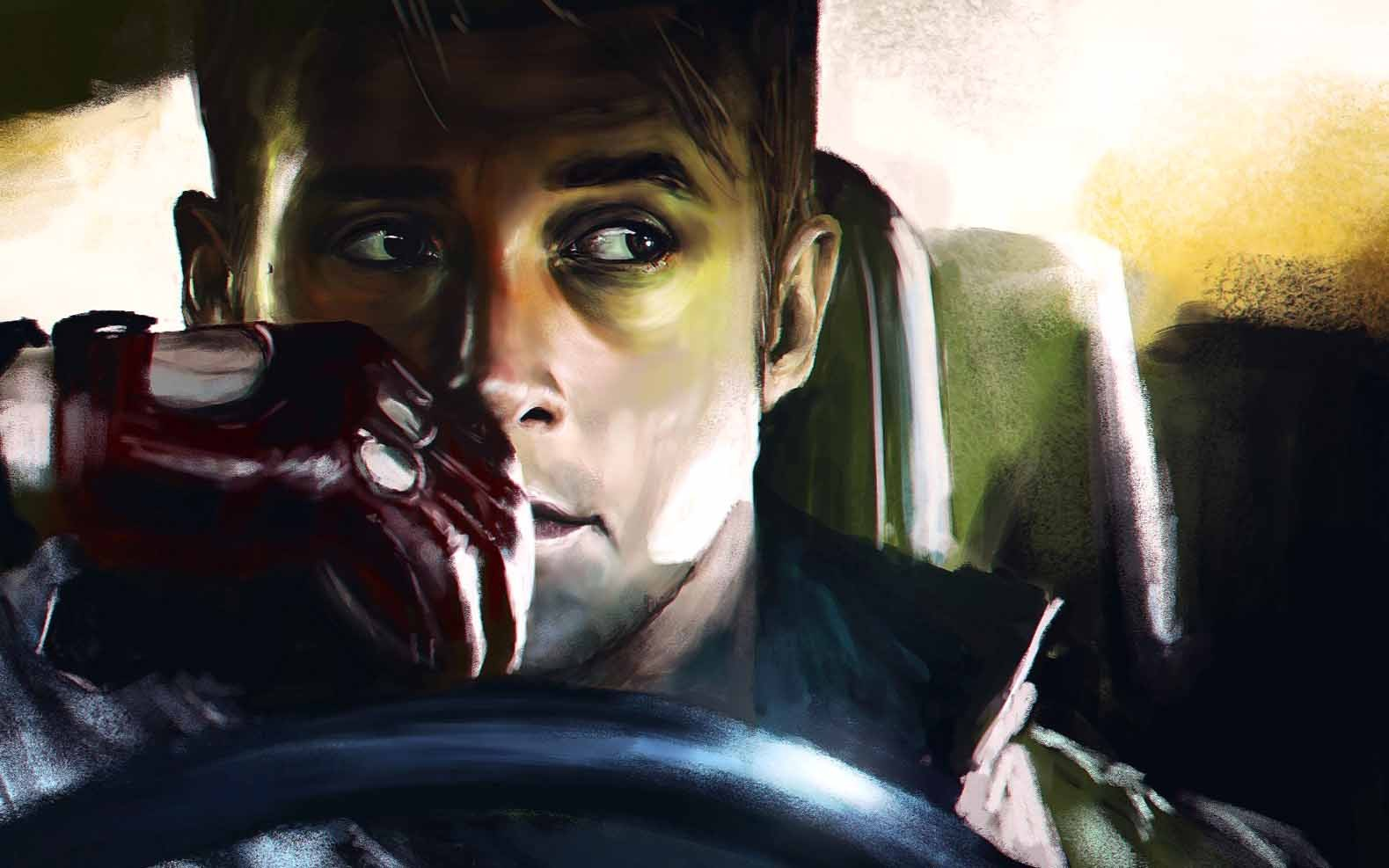 Rya, Goslingt, Men, Painting, Car, Illustraion, Art, - Hd Painting Pictures Of Men - HD Wallpaper
