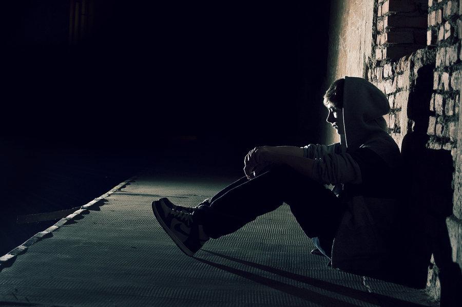 Alone Boy In Dark - HD Wallpaper
