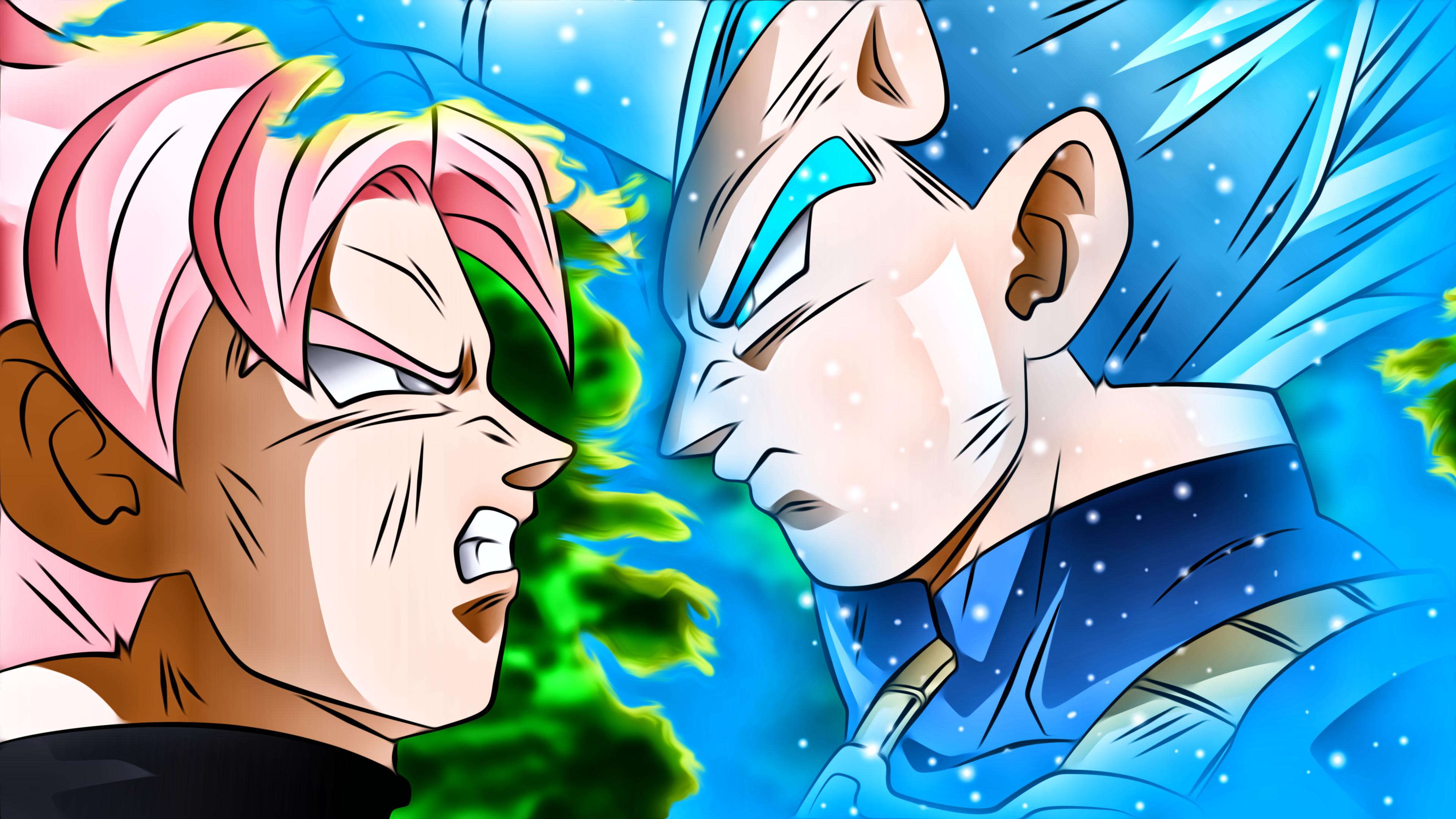 Dragon Ball Super Vegeta Ssgss Vegeta Black Dragon Vegeta Super Saiyan Blue Vs Goku Black 3840x2160 Wallpaper Teahub Io