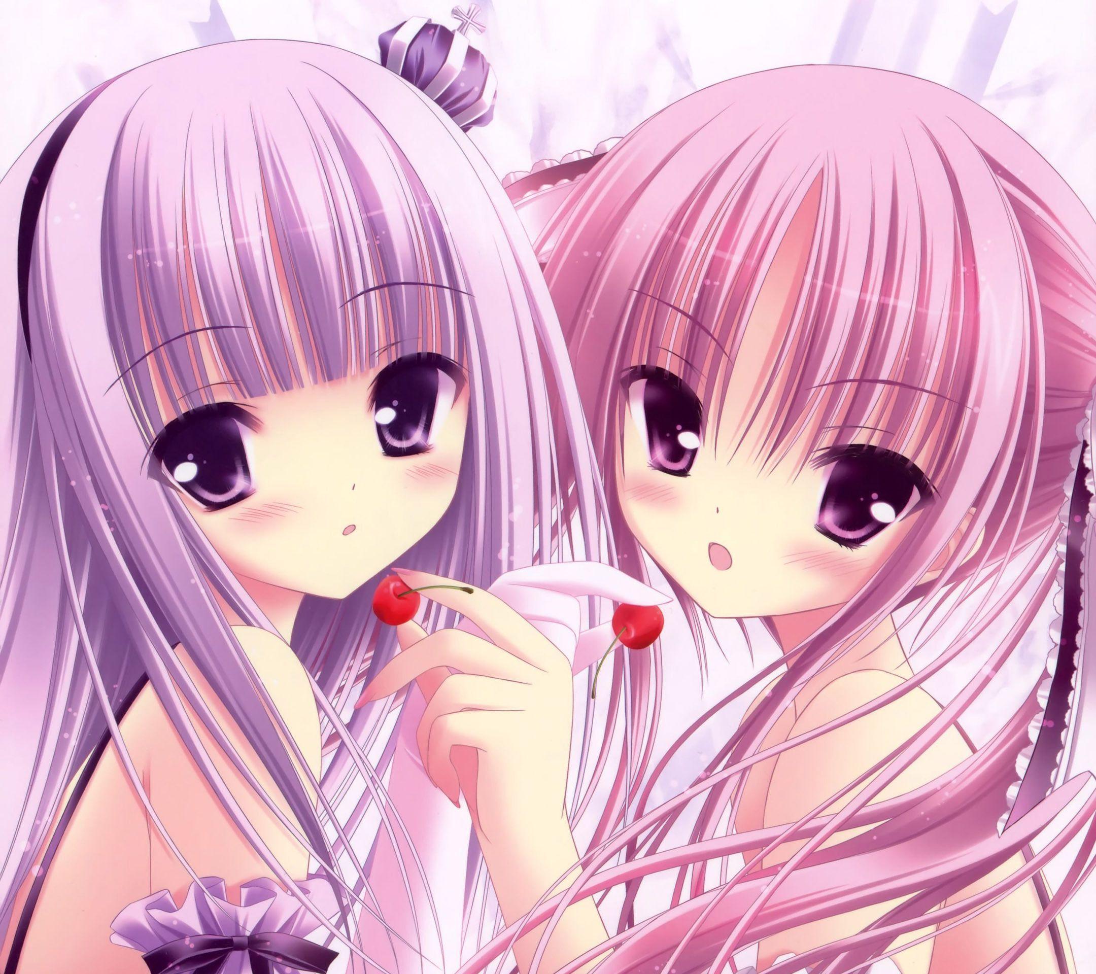 Pink Anime Wallpapers Group   Data-src /img/337112 - Cute Kawaii Anime Girl - HD Wallpaper