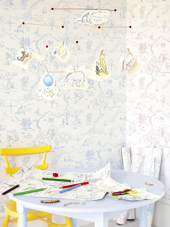 Designing Children S Bedrooms Is Often A Family Affair - Jane Churchill One Hundred Acre - HD Wallpaper