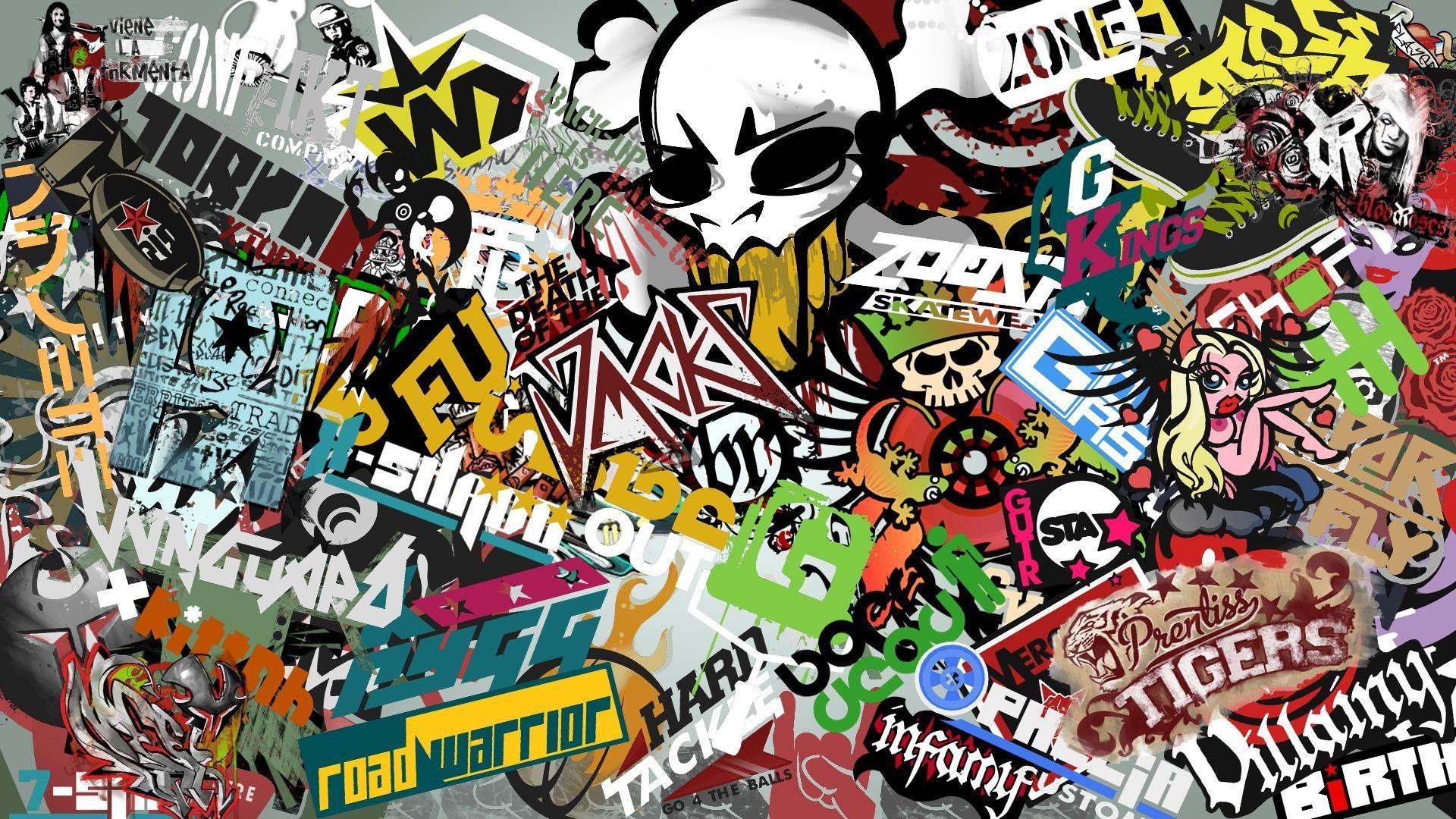 Great Sticker Bomb Wallpaper Hd Wallpapers Of Nature - 1080p Sticker Bomb - HD Wallpaper