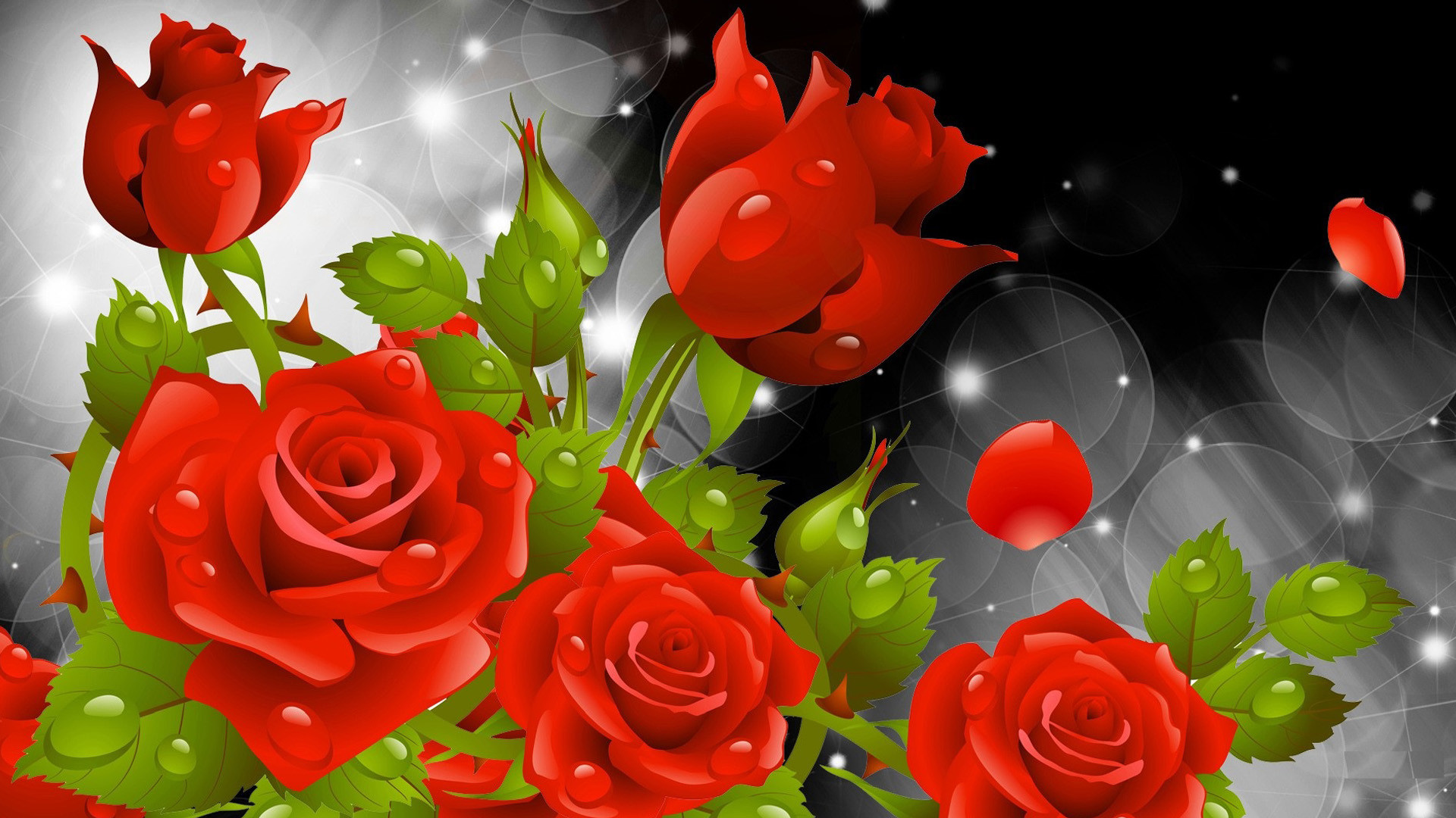Red Rose Wallpapers Red Flowers Hd Pictures One Hd - Flower Rose Wallpaper Hd Nature - HD Wallpaper