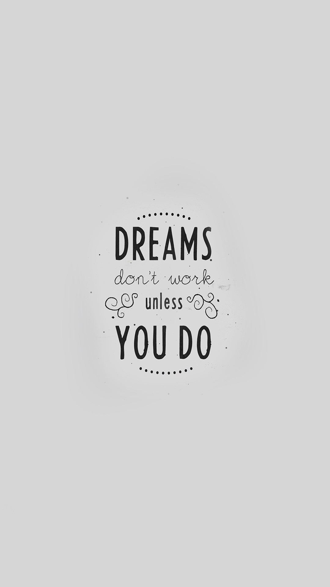 Home Decor Large Size Quote Dreams Dont Work Minimal - Graphics - HD Wallpaper