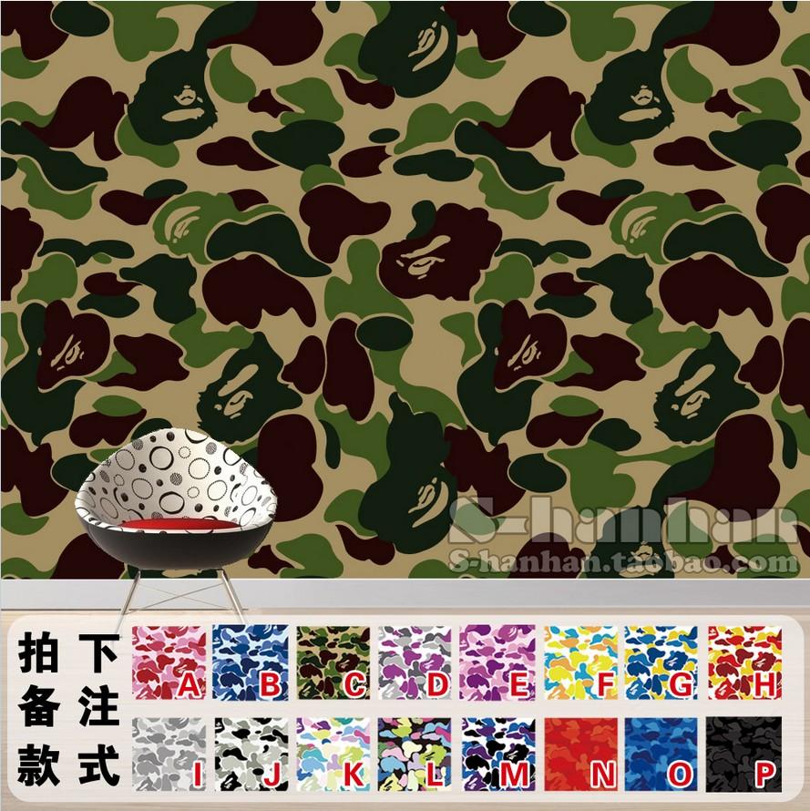 Bape Bedroom Dormitory Wallpaper Wallpaper Decorative - Bathing Ape Wallpaper Hd - HD Wallpaper