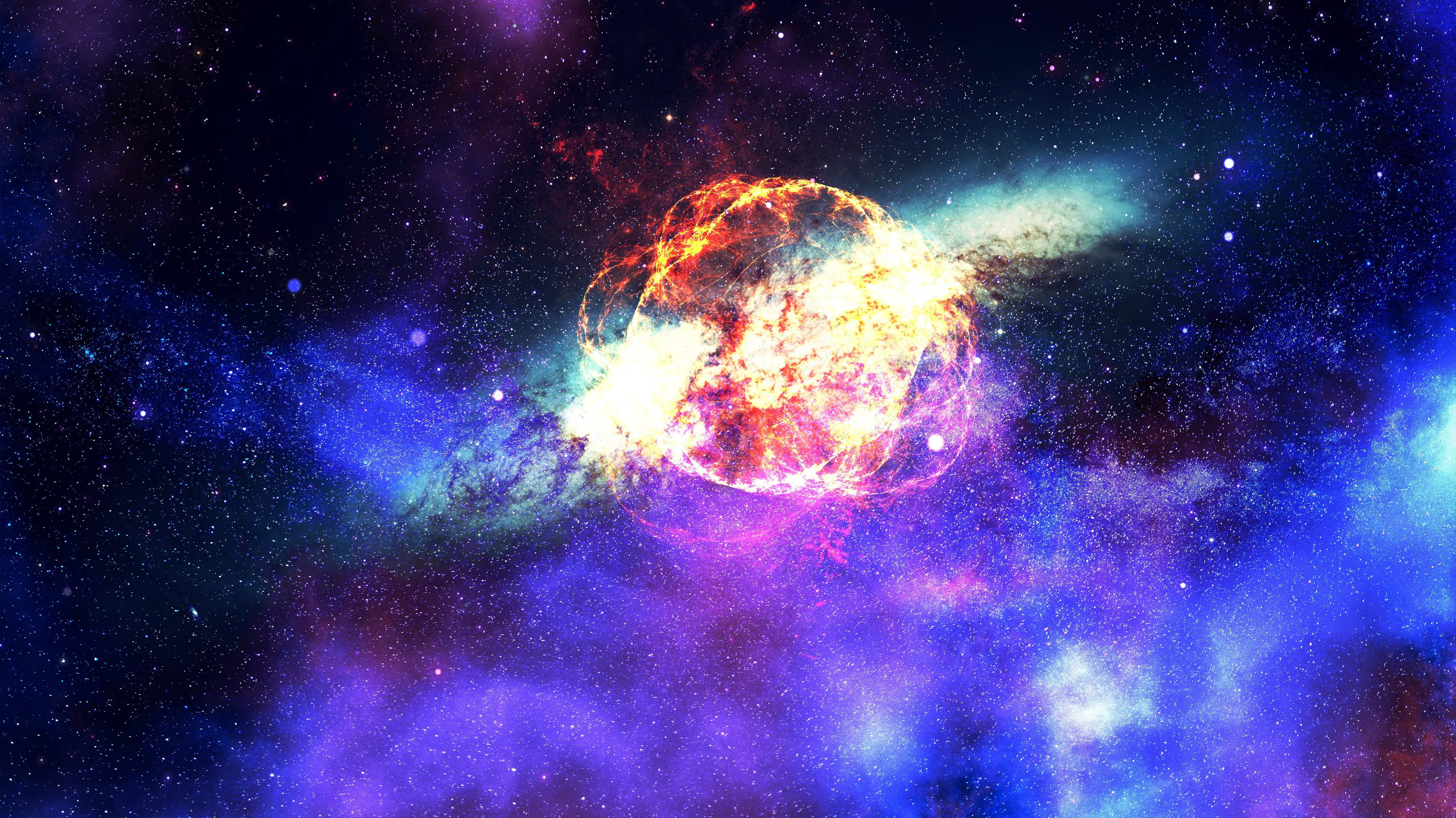 Nebula Galaxy Outer Space 4k Temple De Sagrat Cor 3840x2160 Wallpaper Teahub Io