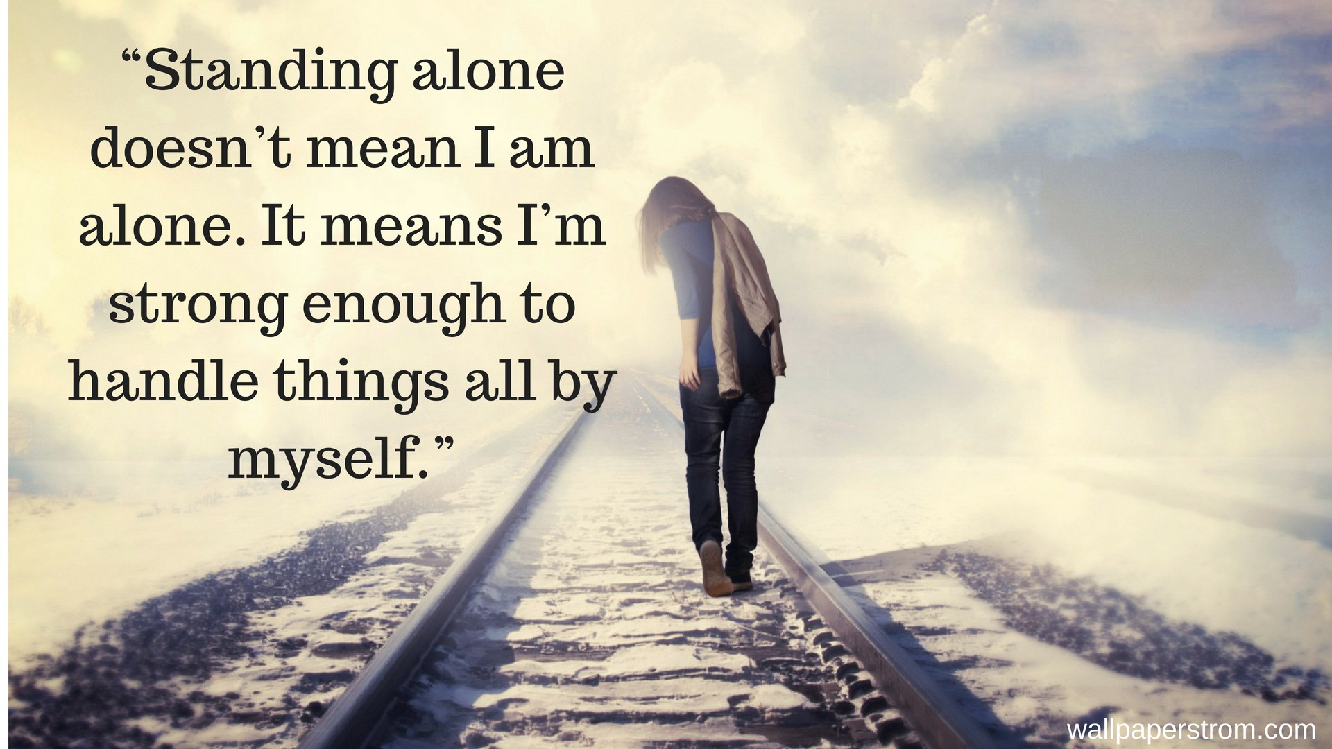 Alone Quotes Hd Wallpapers - Alone Whatsapp Dp For Girl With Quotes - HD Wallpaper