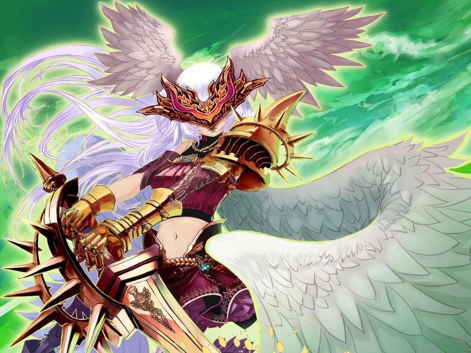 Angels Swords Armor Fantasy Girls Angel Sword Warrior - Yu Gi Oh Archetype Sexy - HD Wallpaper