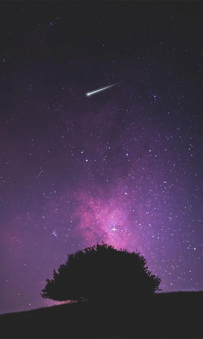 Beautiful Night Sky With Shooting Star - Night Sky Wallpaper Iphone - HD Wallpaper