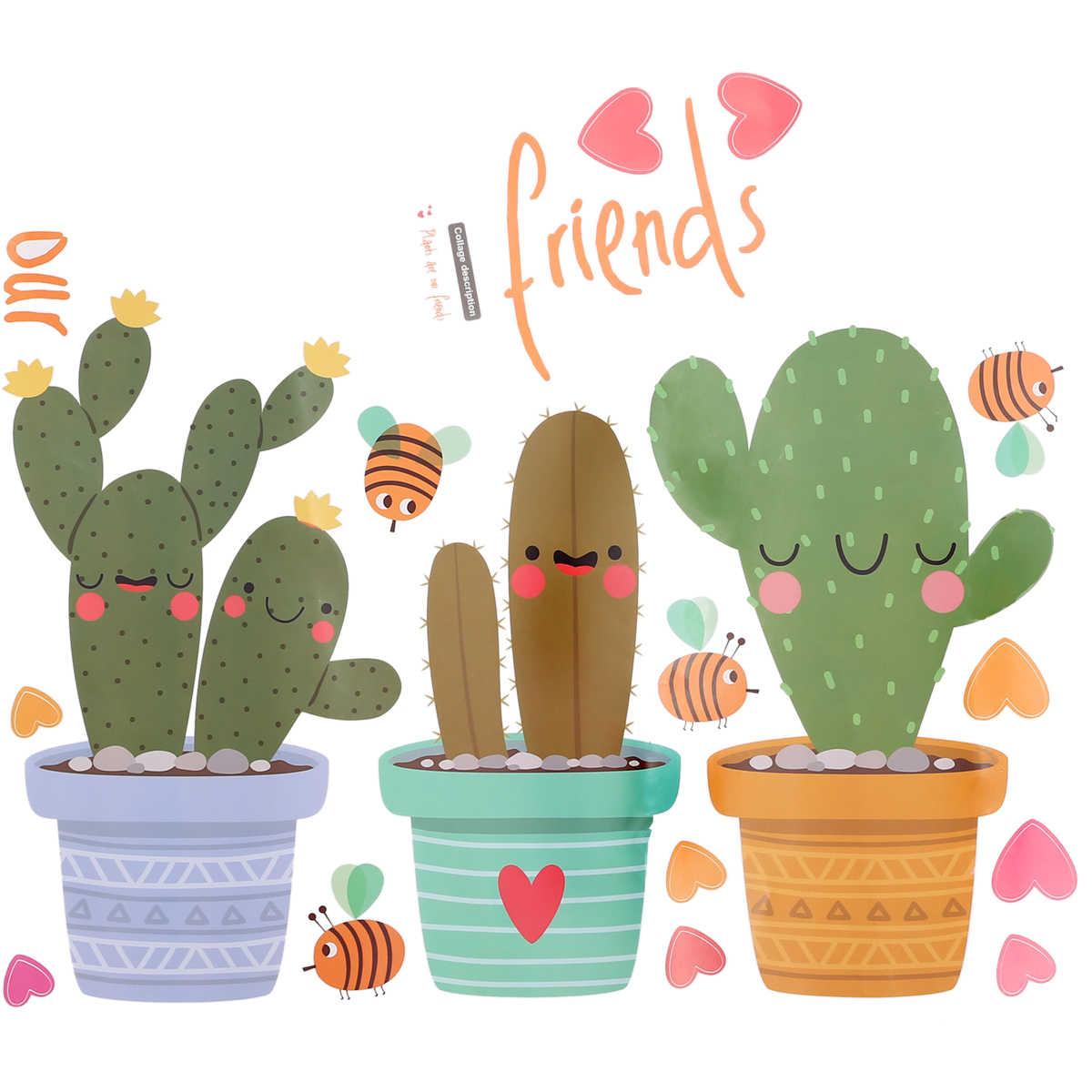 Gambar Kaktus Kartun Lucu - HD Wallpaper