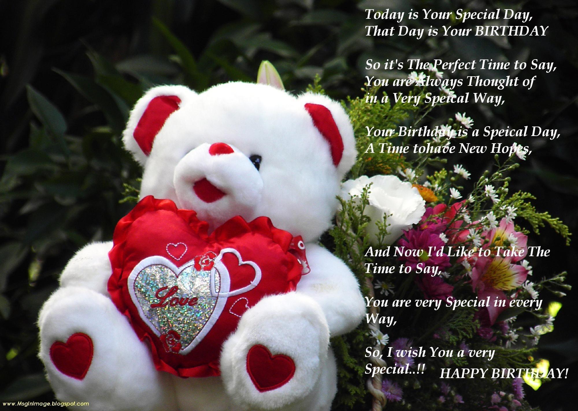 Glamorous Romantic Birthday Wishes - Romantic Good Morning Teddy Bear - HD Wallpaper
