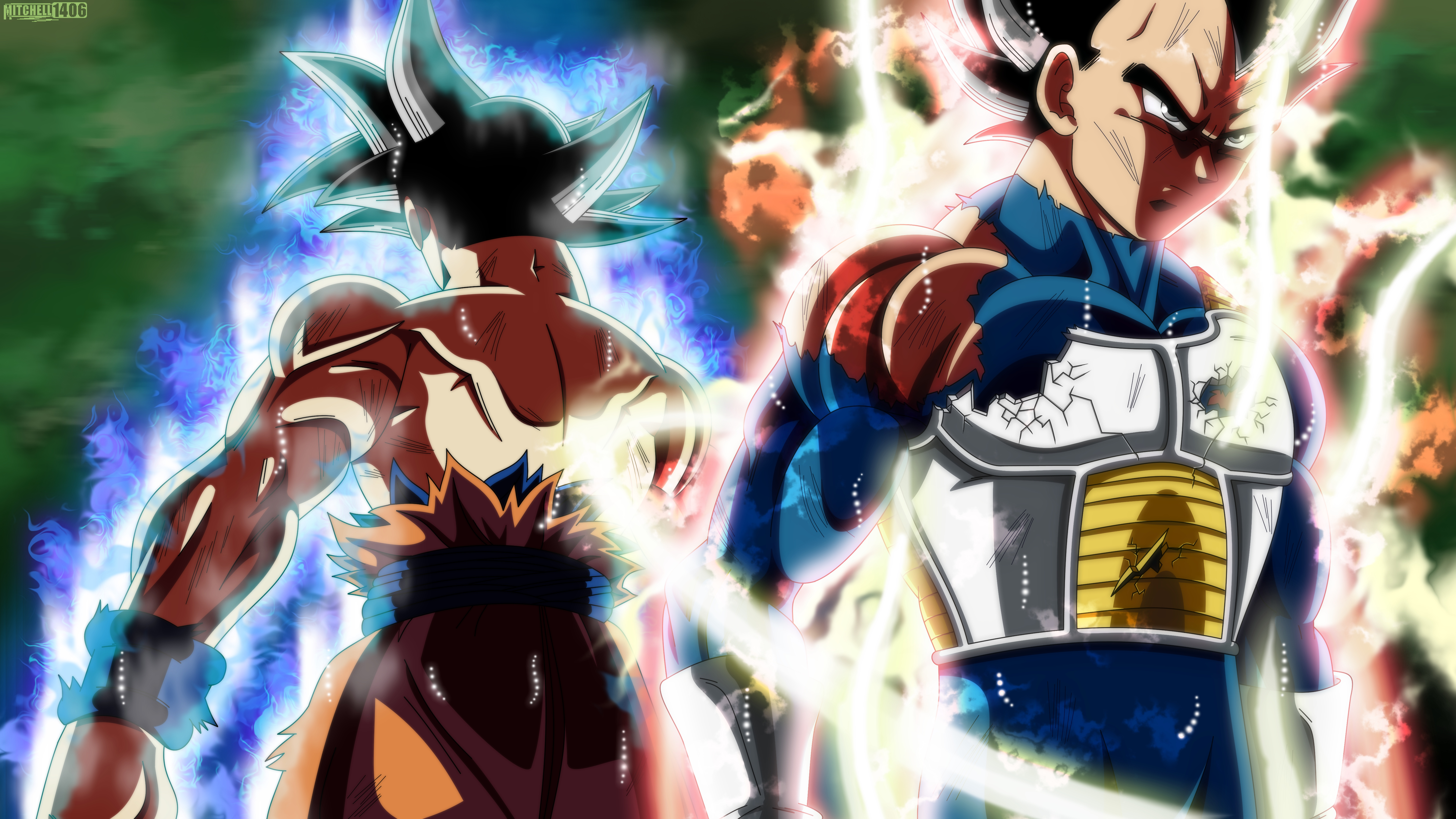 Goku And Vegeta Wallpaper 7680x4320 Wallpaper Teahub Io
