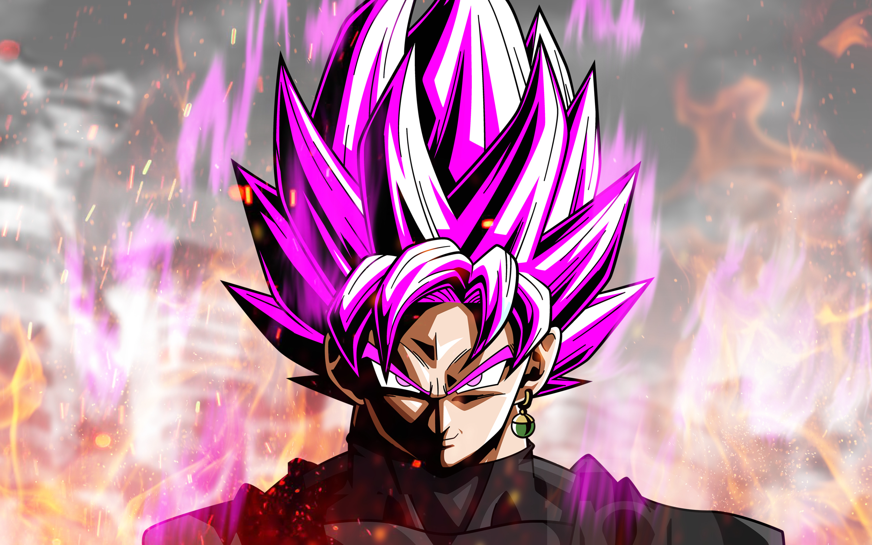 Black Goku Fire Flames Close Up Dbs Super Saiyan Black Goku Super Saiyan Rose 2880x1800 Wallpaper Teahub Io