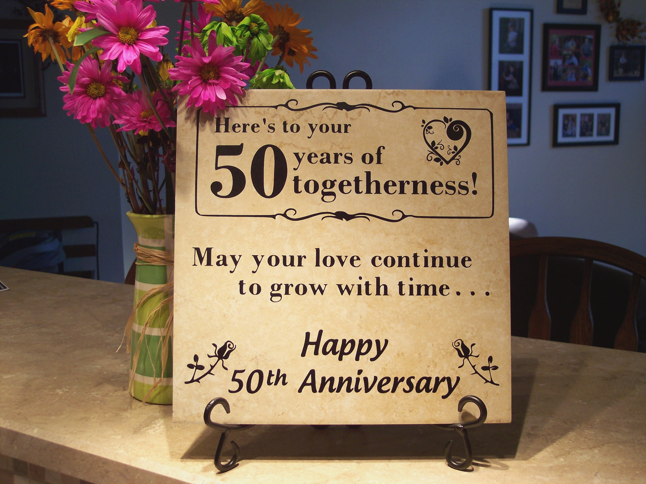 50th Wedding Anniversary Wishes For Friend Beautiful - Happy 50th Anniversary Quote - HD Wallpaper