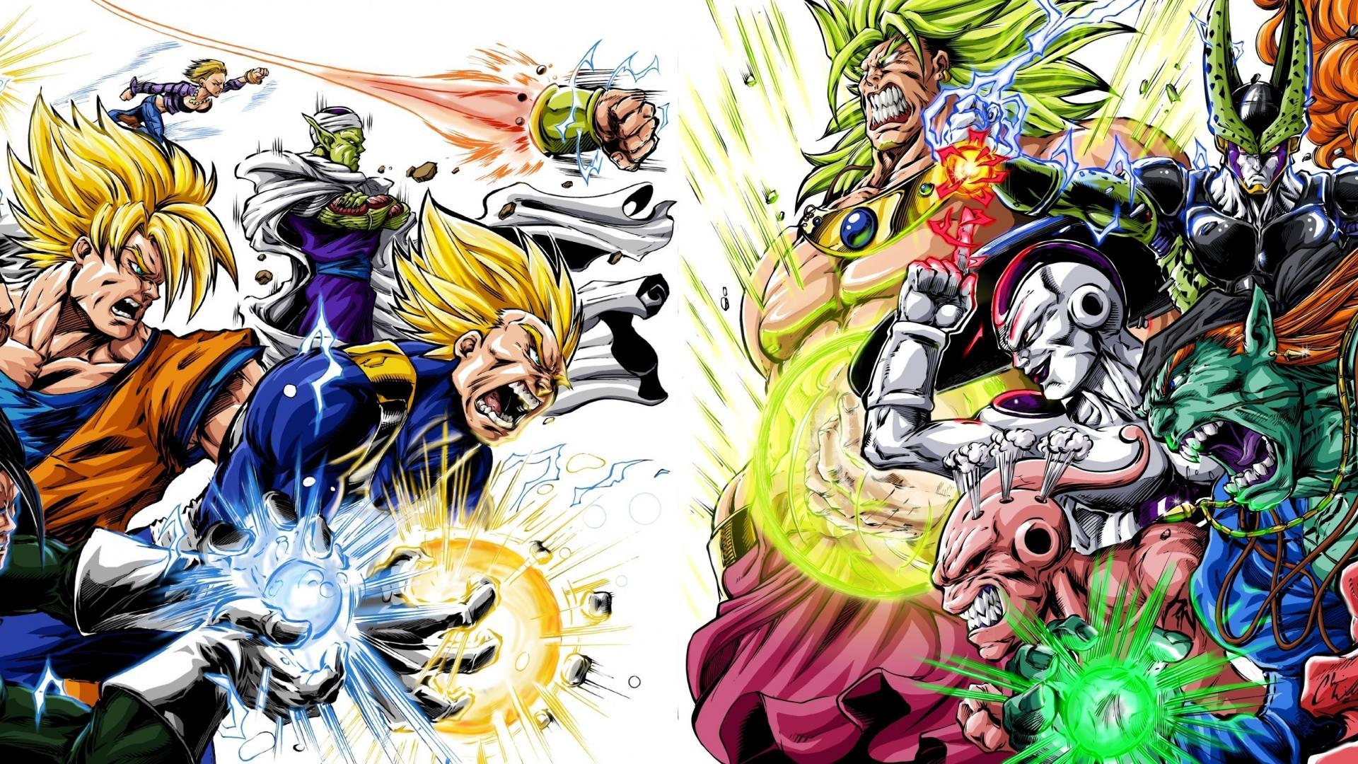 Dragon Ball Z Gt - Dragon Ball Z Heroes Vs Villains - HD Wallpaper