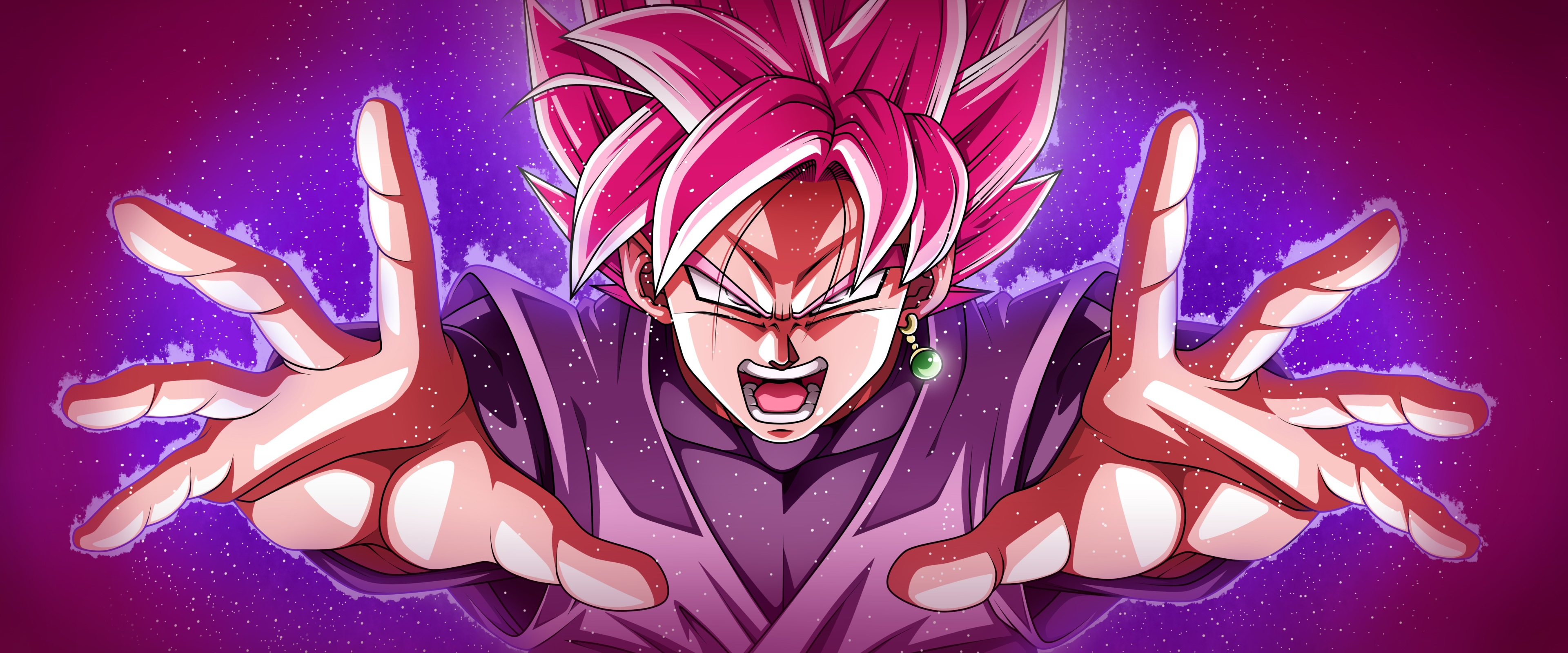 Super Saiyan Rose Goku Black 3840x1600 Wallpaper Teahub Io