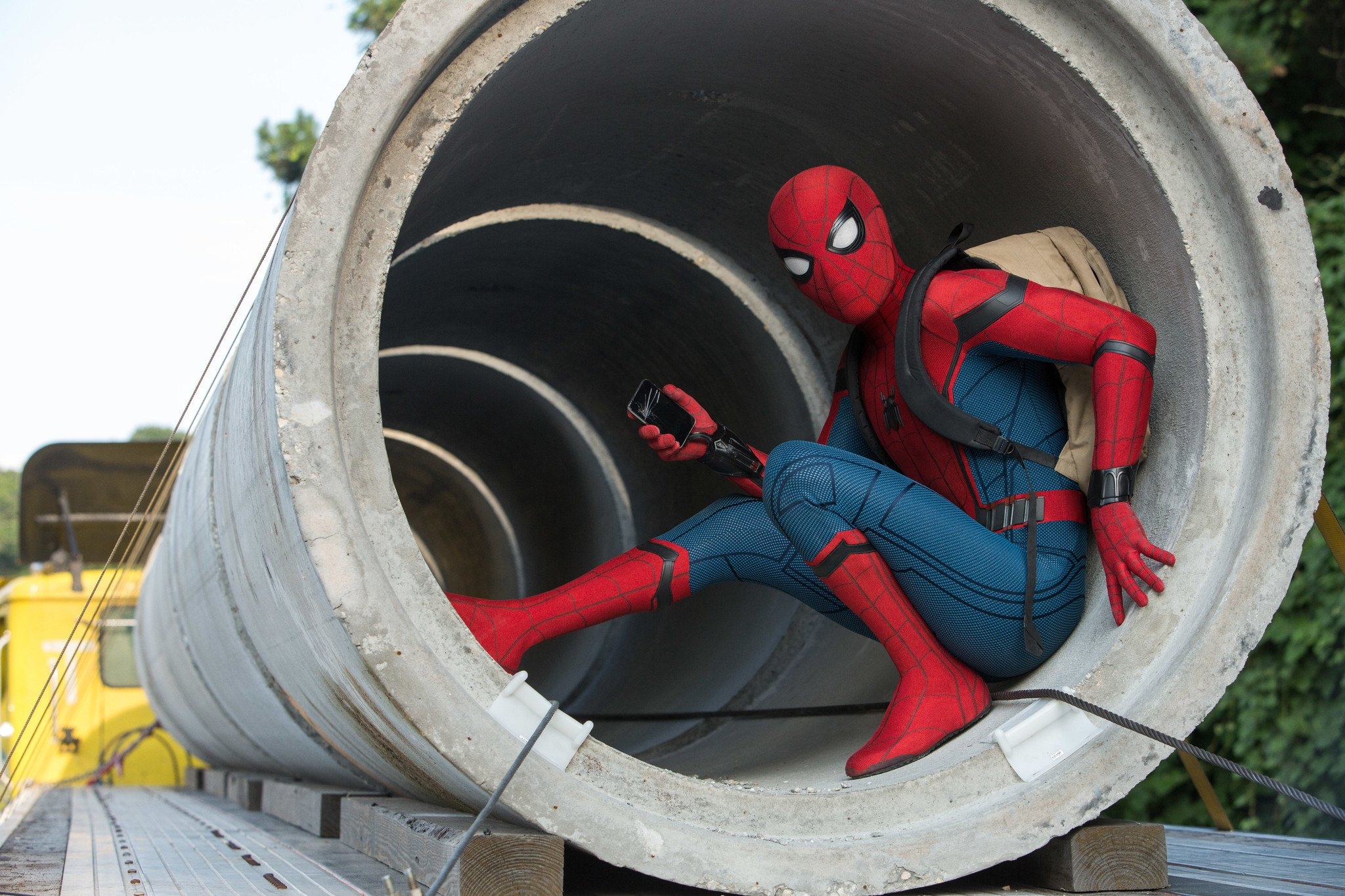 Spider Man Homecoming Spider Drone - HD Wallpaper