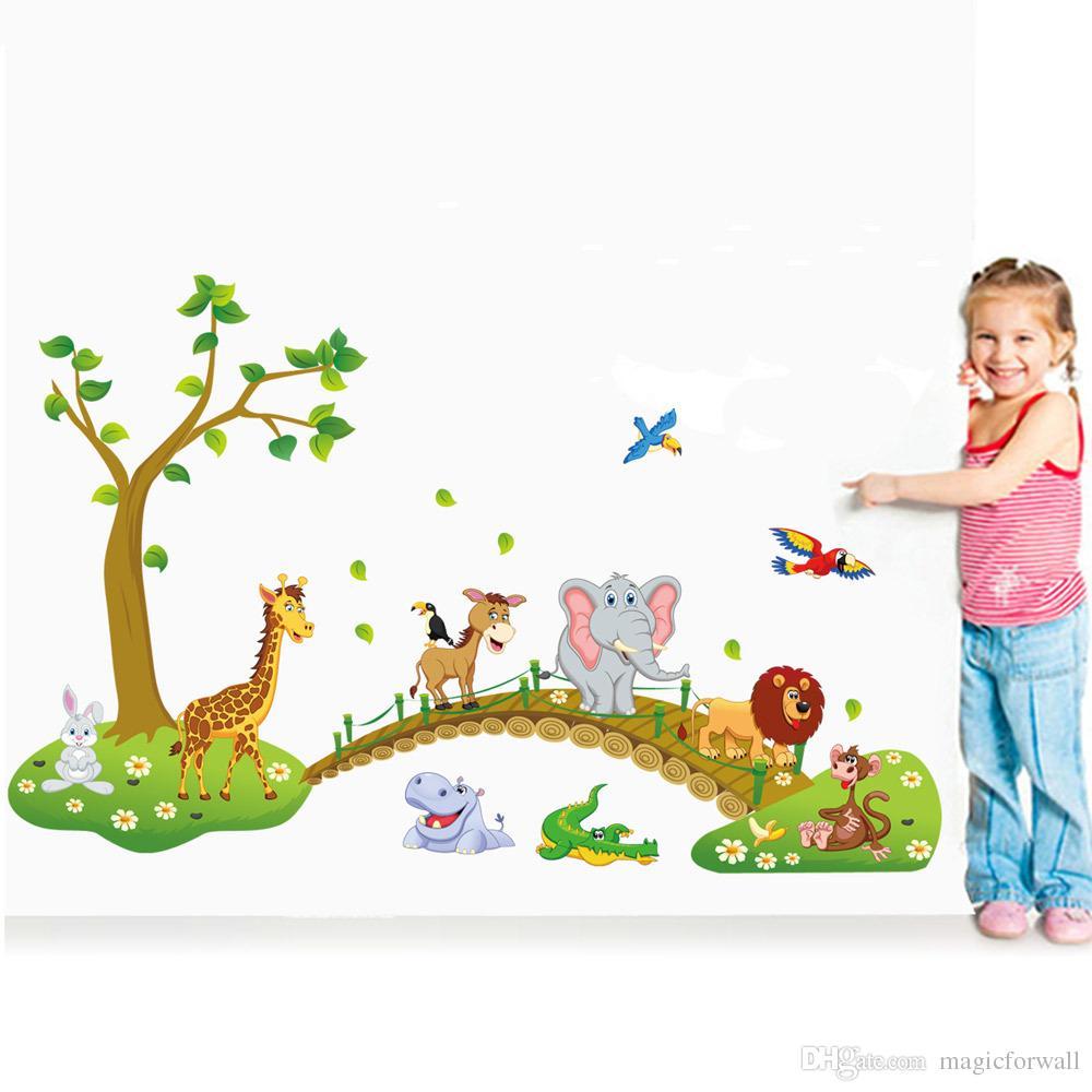 Wall Decor Toddler Animals - HD Wallpaper