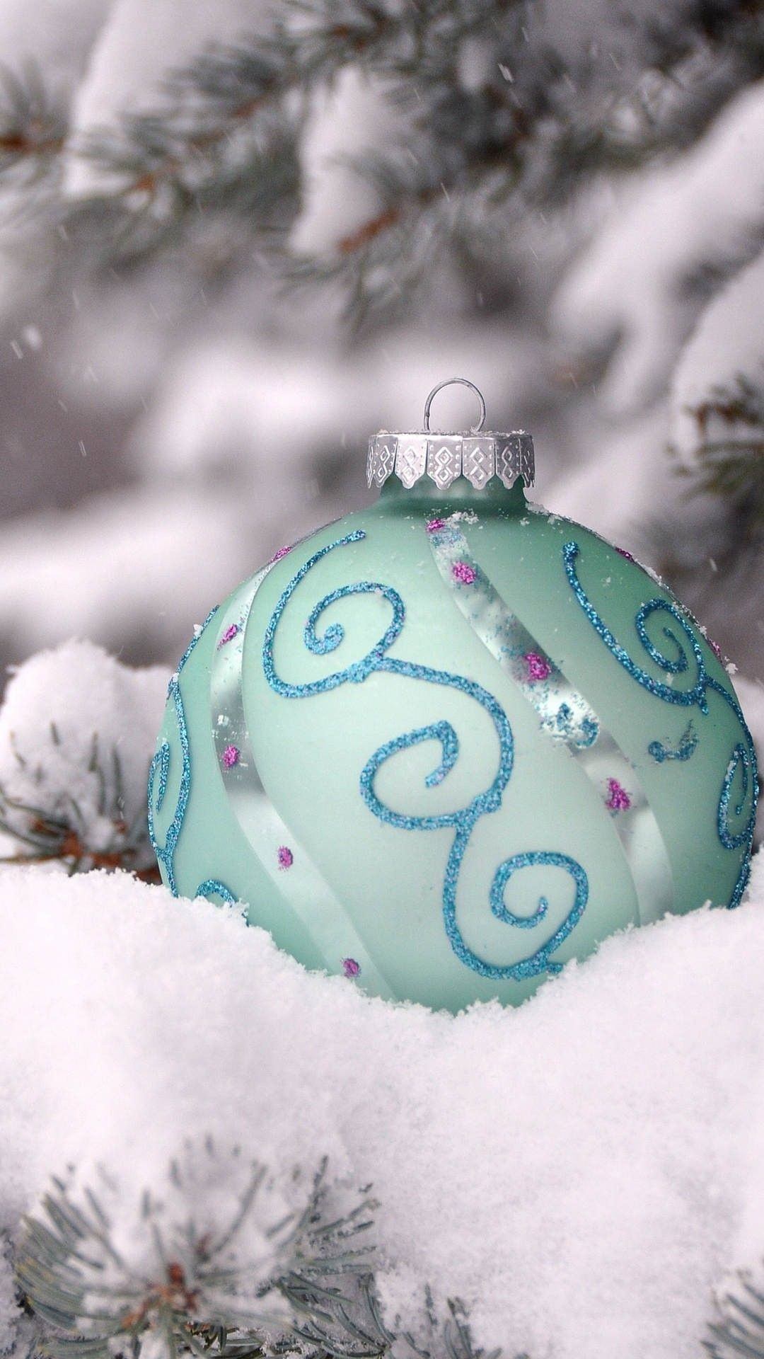 Frozen Themed Christmas Tree Floating Ornament Iphone - Lock Screen Christmas Wallpaper Iphone - HD Wallpaper