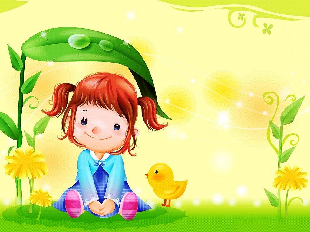 12 Cute Cartoon Wallpapers - Cute Girly Cartoon Wallpaper For Desktop - HD Wallpaper