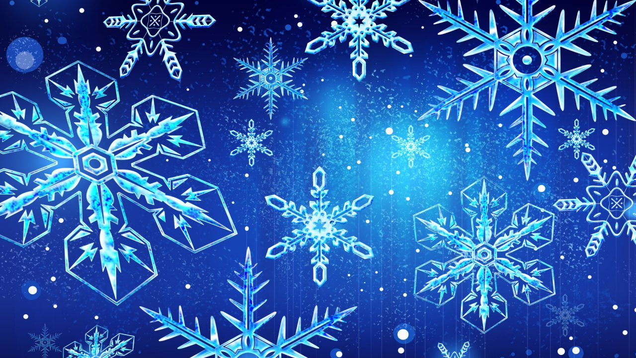 Snowflake Frozen 2d Background High Definition Amazing - Christmas Computer Background - HD Wallpaper
