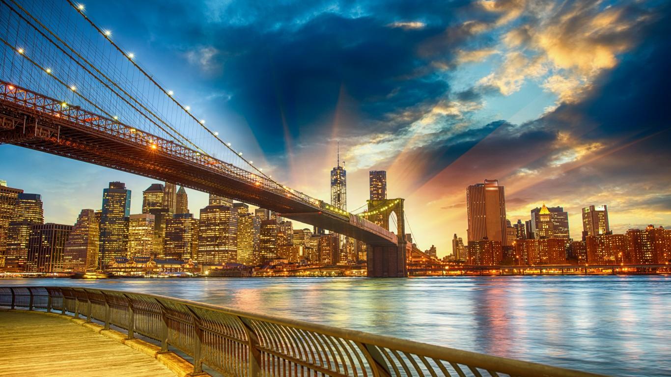 113 1130333 brooklyn bridge sunset nyc background hd